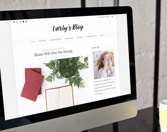 Everly Lite: Free WordPress Blog Theme