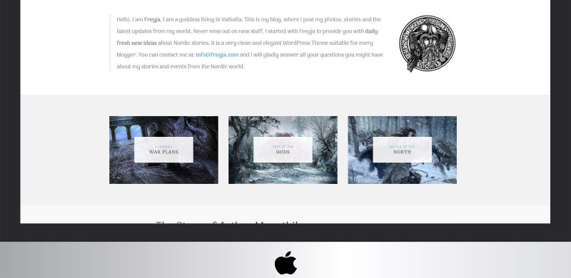 Freyja Lite: Free WordPress Fantasy Blog Theme