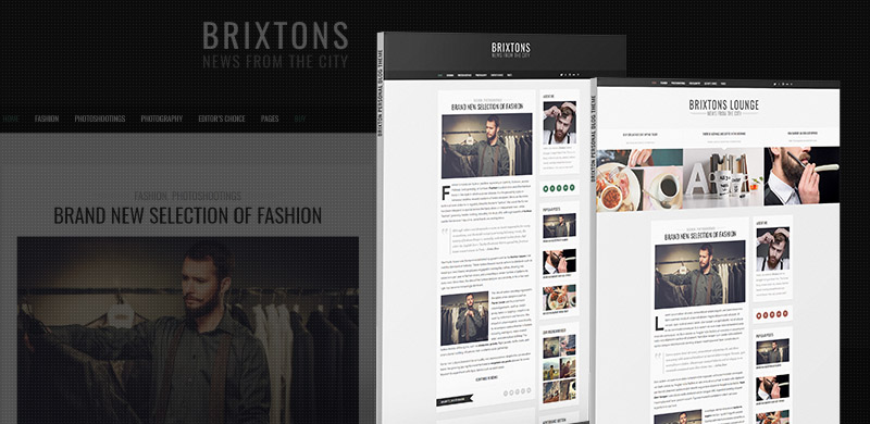 Freebie: Brixton PSD Blog Template