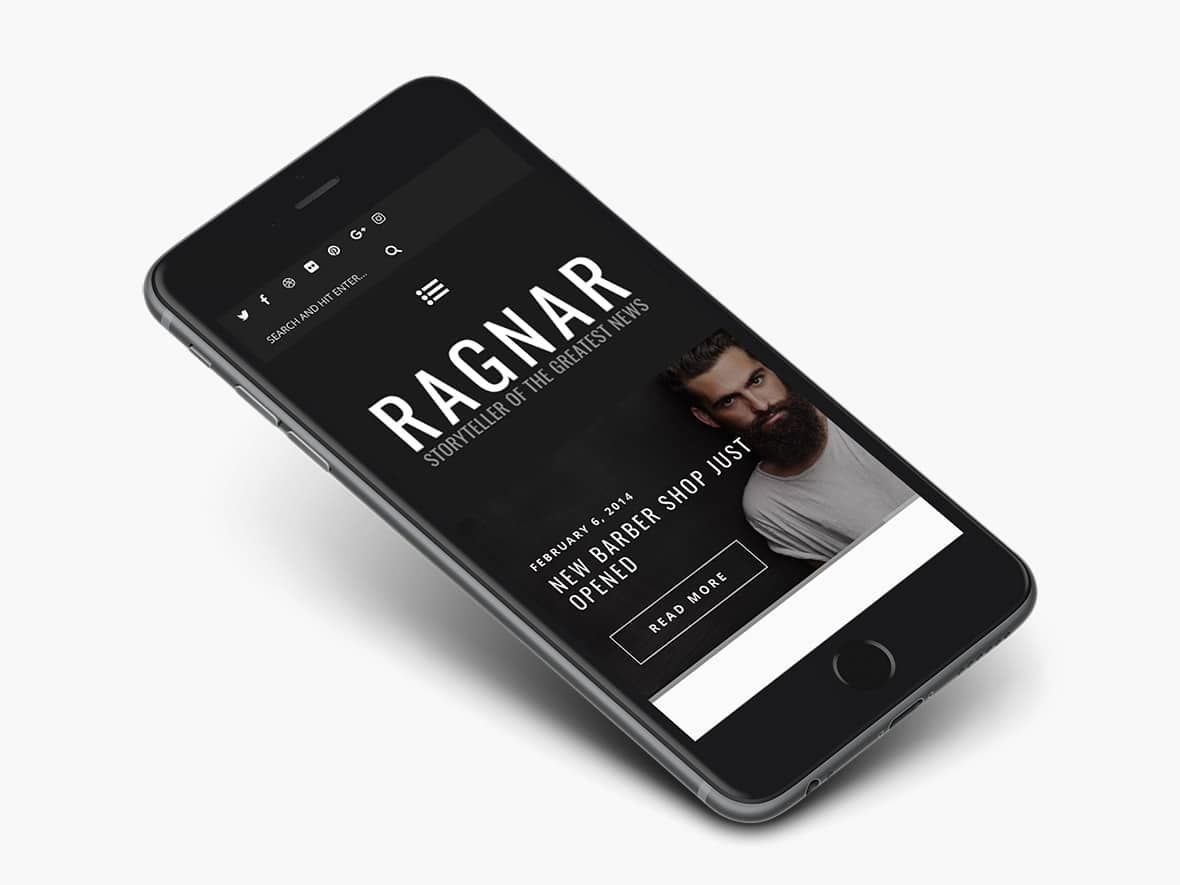 Ragnar Responsive on Mobile