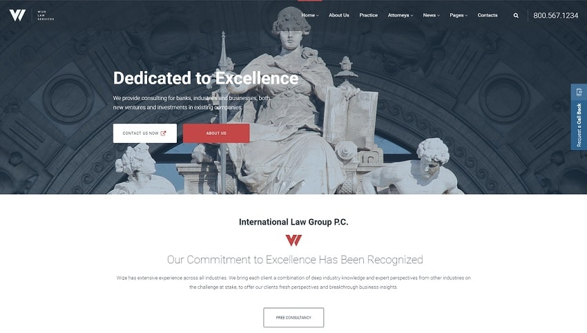 wizelaw business theme