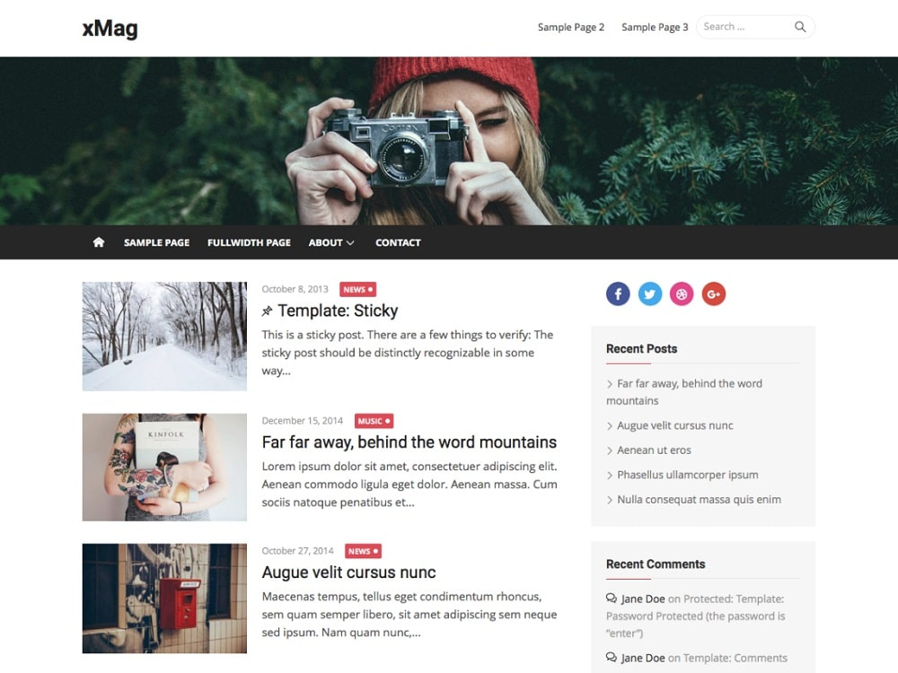 Top 19 free wordpress blog themes 2017 blogs and magazine site creators xmag is here to serve nearly all of your needs with its versatility you can very easily and quickly create a maxwellsz