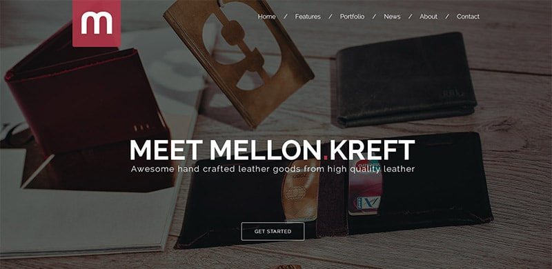 Freebie: Mellon One Page Shop PSD Template