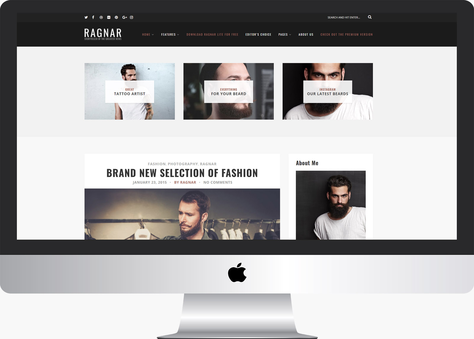 Ragnar Lite: Free Bold WordPress Blog Theme