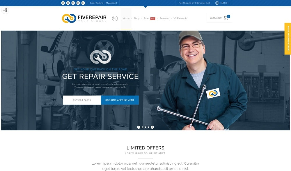 456 repair wordpress theme