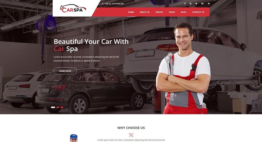 carspa wordpress theme