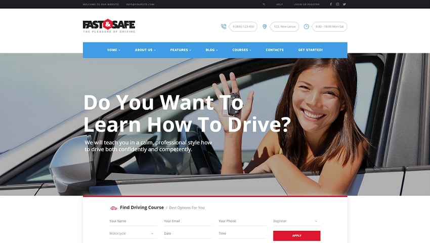 fast and safe wordpress theme