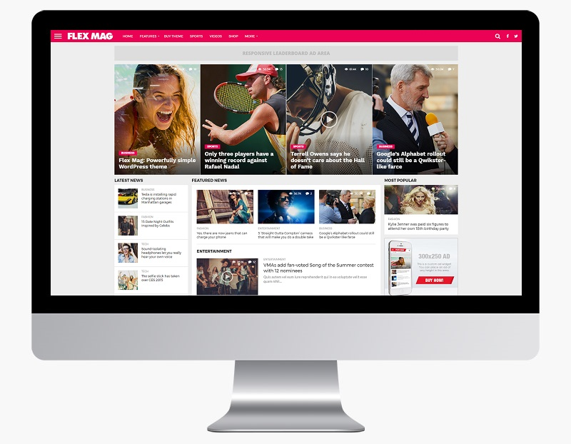 flex mag responsive news wordpress theme