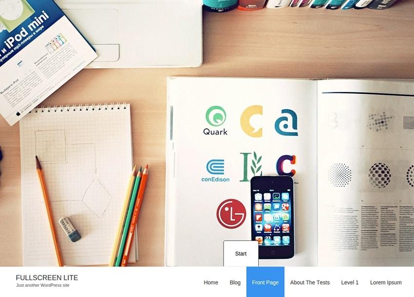 fullscreen free wordpress theme
