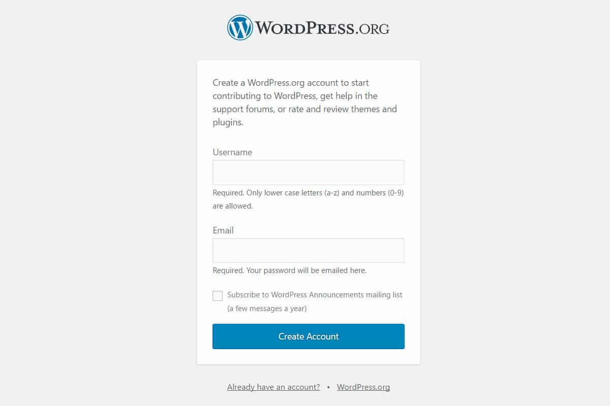 Register to WordPress