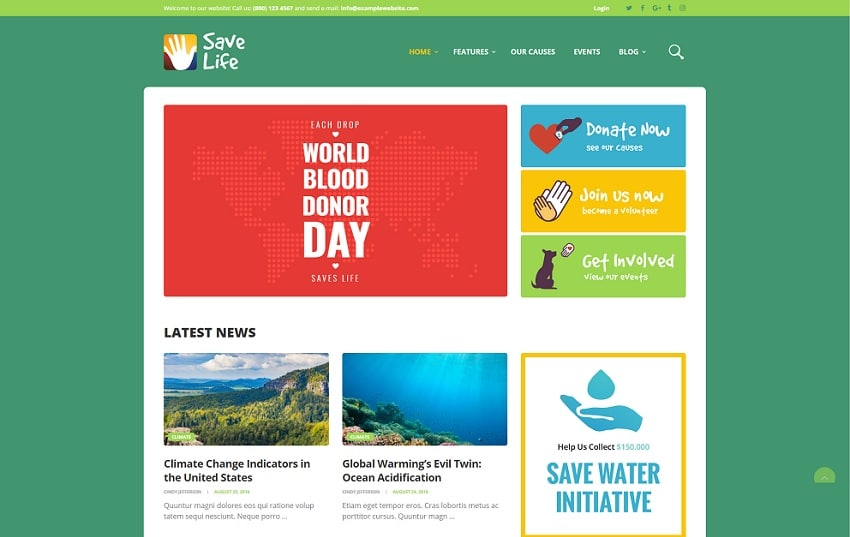 save life wordpress theme