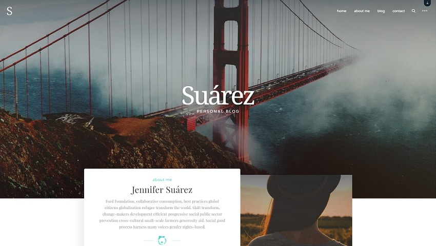suarez wordpress presonal blog theme