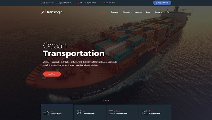 translogic wordpress theme