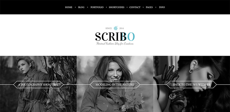 Freebie: Scribbo Fashion Blog PSD Template