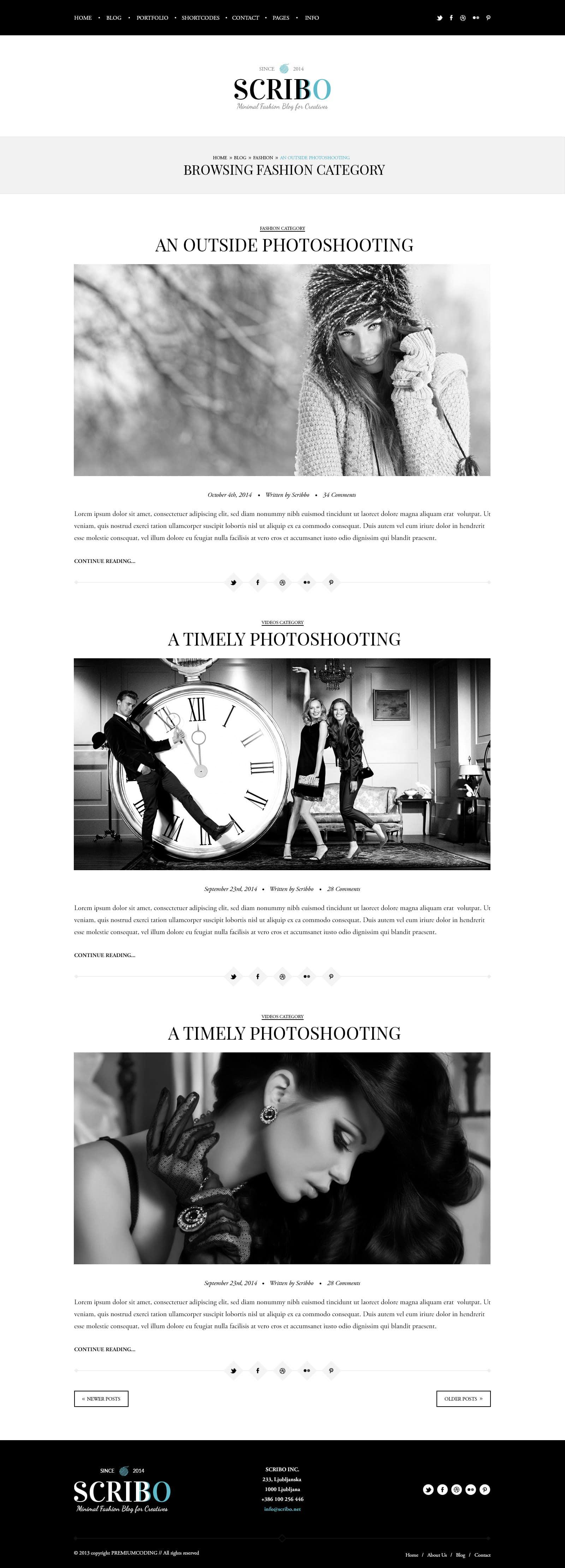 Free Fashion PSD Template Blog Page