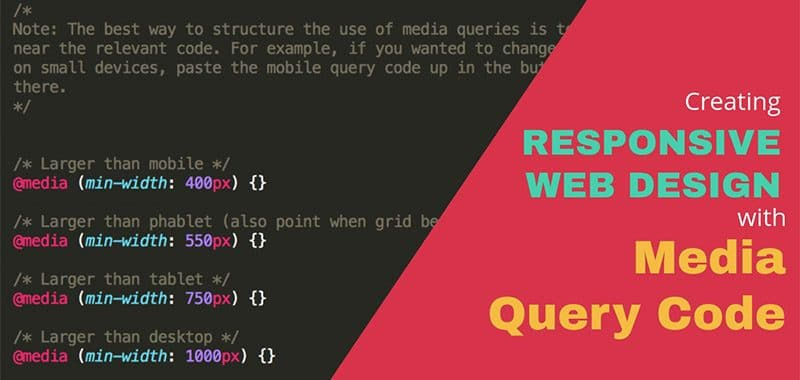 How to create Responsive Website with Media Query?
