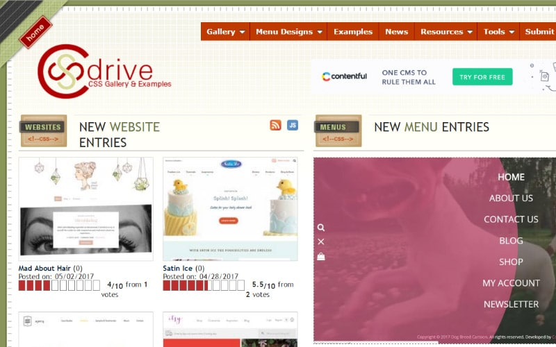 CSS drive gallery