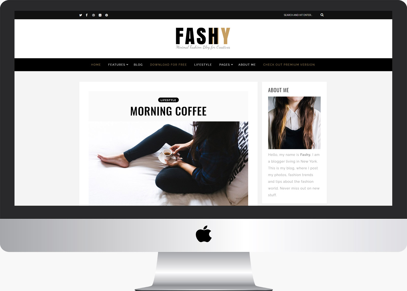 Fashy Lite: Free Fashion WordPress Blog Theme