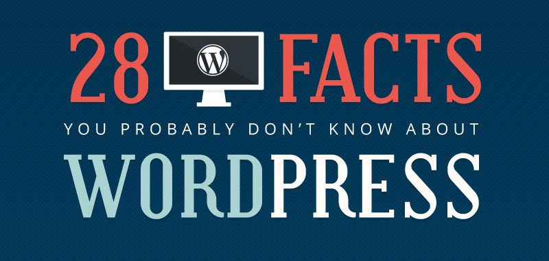 INFOGRAPHIC: 28 Facts You Probably Don't Know About WordPress