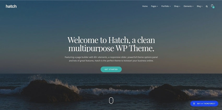 hatch multipurpose wordpress theme