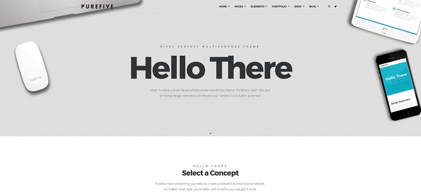purefive multipurpose multiconcept wordpress theme