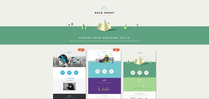 rock group multipurpose infographic wordpress theme