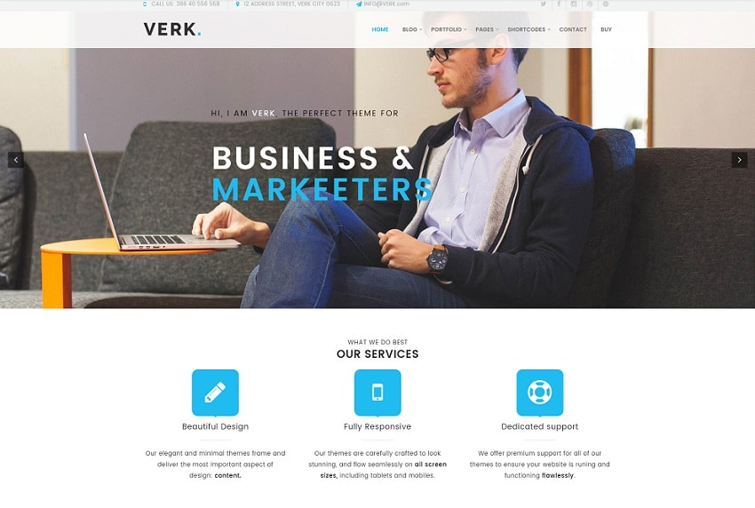 verk business multipurpose wordpress theme