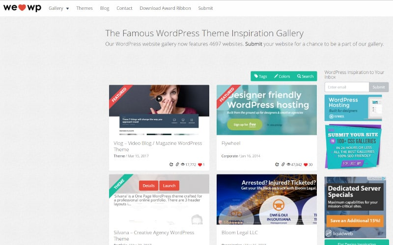 WeLoveWP CSS Gallery