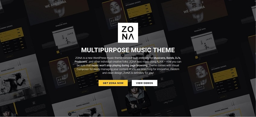 zona multipurpose music wordpress theme