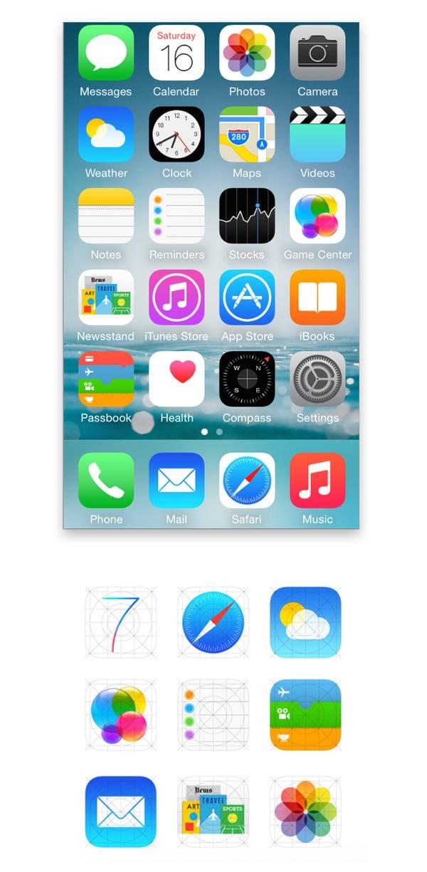 Apple flat design icons