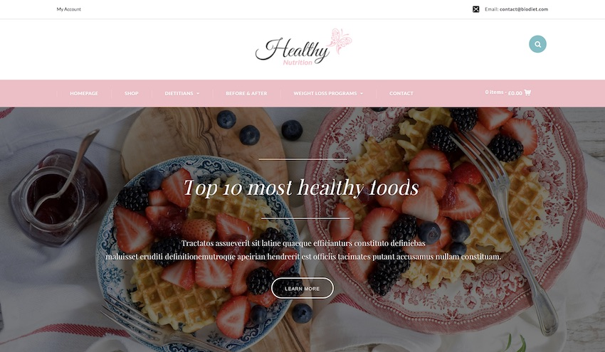 biodiet wordpress theme