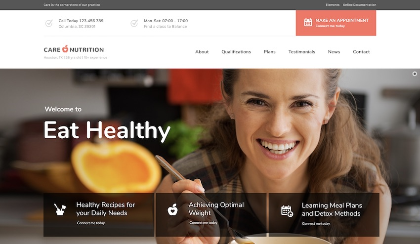 care wordpress theme