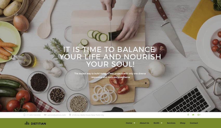 dietitian wordpress theme