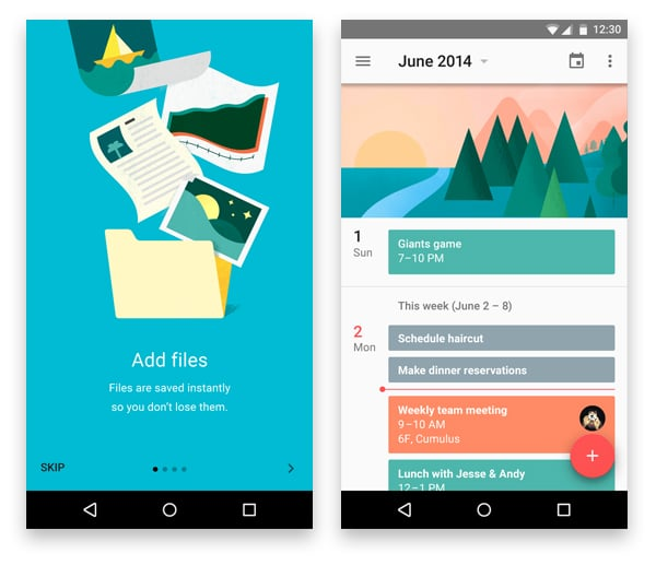 Google Material Design Examples