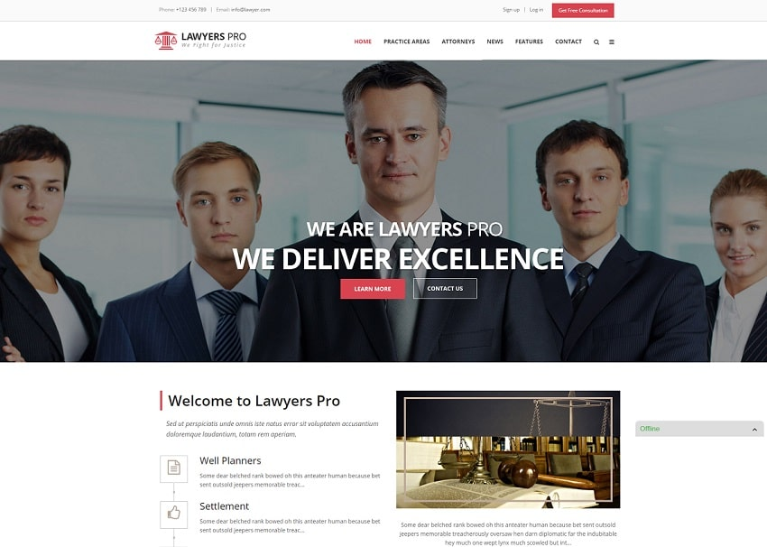 lawyer pro wordpress theme