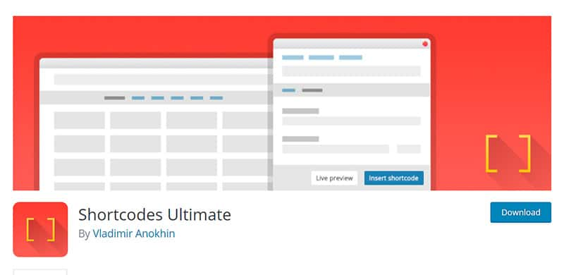 Shortcodes Ultimate is WordPress plugin that provides mega pack of shortcodes.