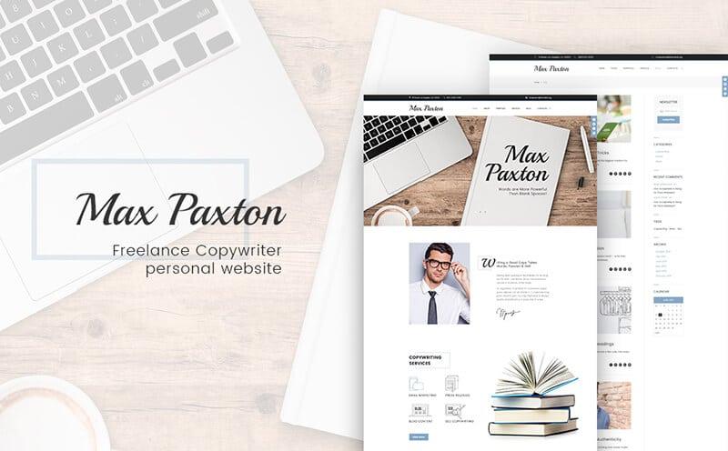 MaxPaxton - Freelance Copywriter and Journalist WordPress Theme