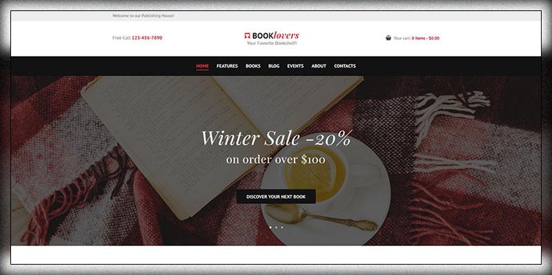 booklovers publishing house book store wordpress theme