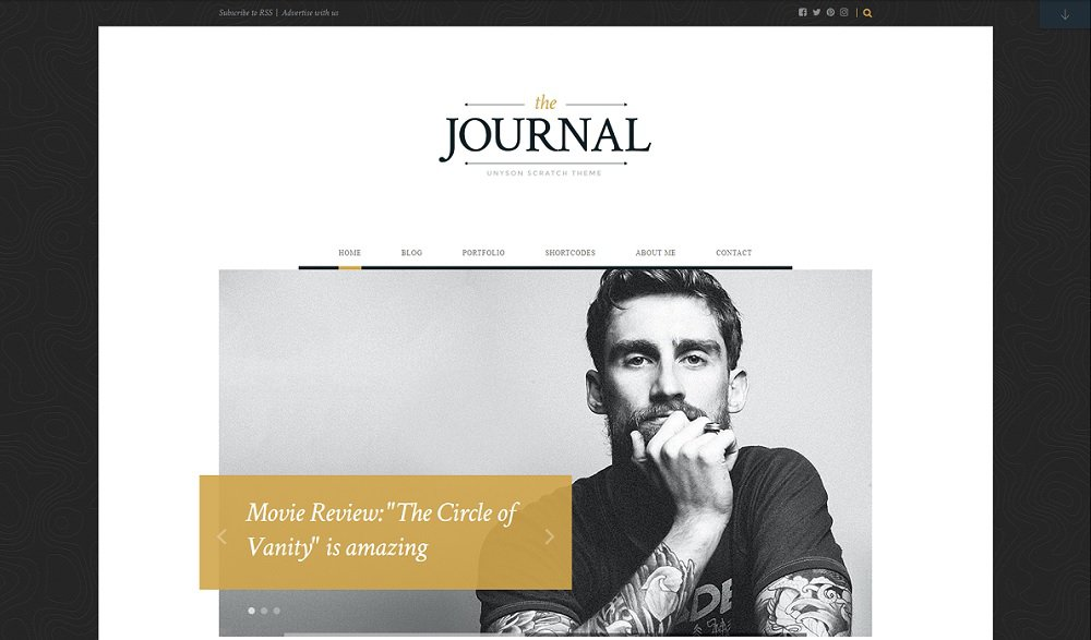journal free wordpress blog theme