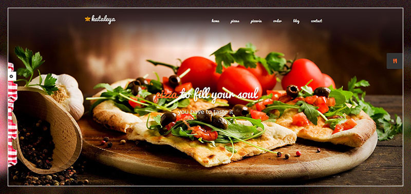 kataleya restaurant pizza coffee wordpress theme