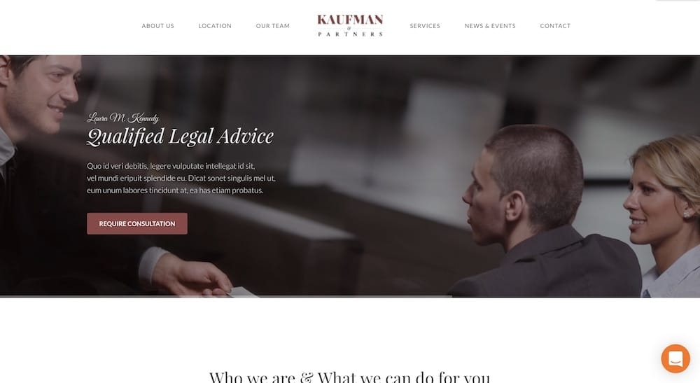 kaufman lawyer wordpress theme