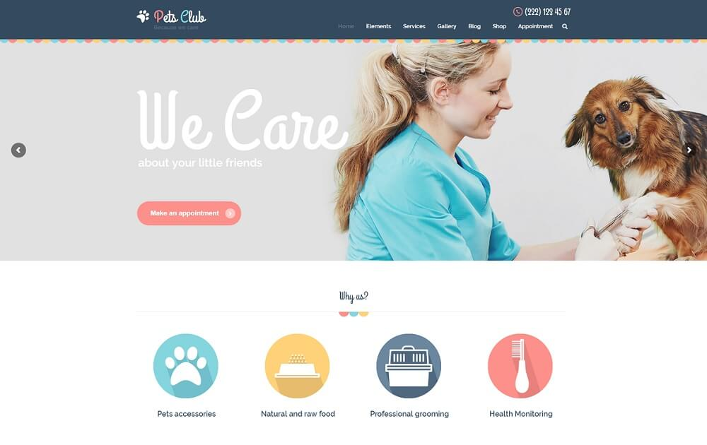 pets club wordpress theme