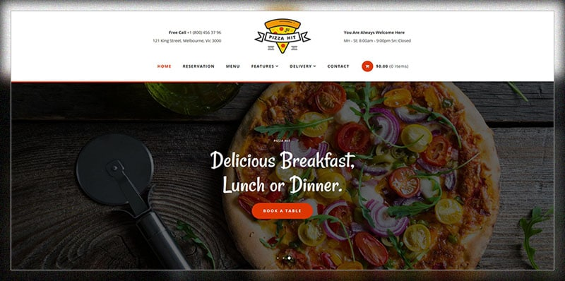 pizzahit pizza cafe restaurant wordpress theme