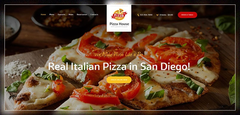 pizza house restaurant cafe bistro theme
