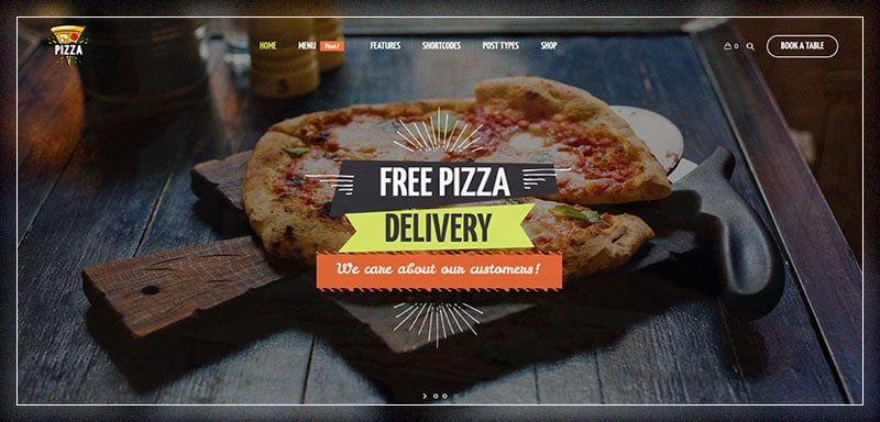 pizza restaurant fast food cafe restaurant wordpress theme
