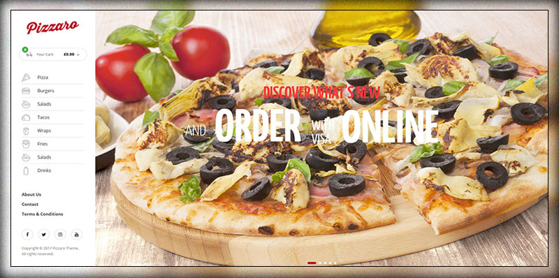pizzaro food online ordering woocommerce theme