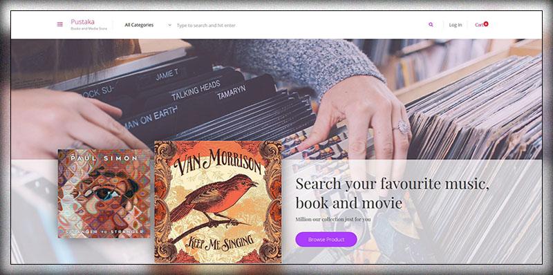 pustaka woocommerce theme for book store