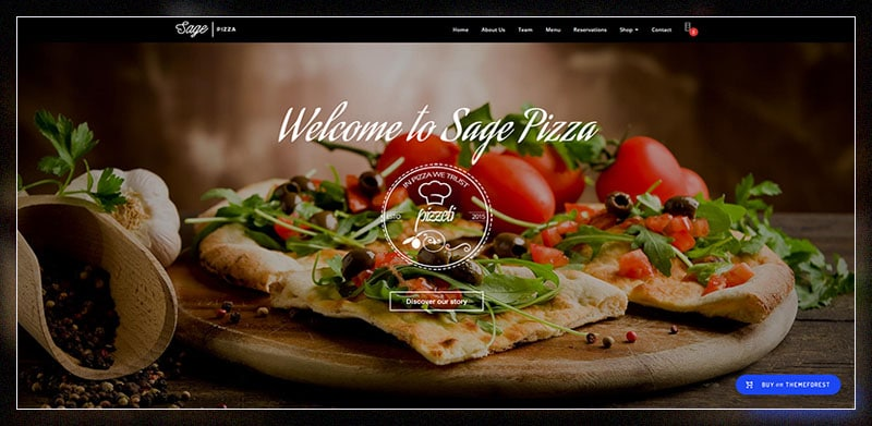 sage premium restaurant wordpress theme