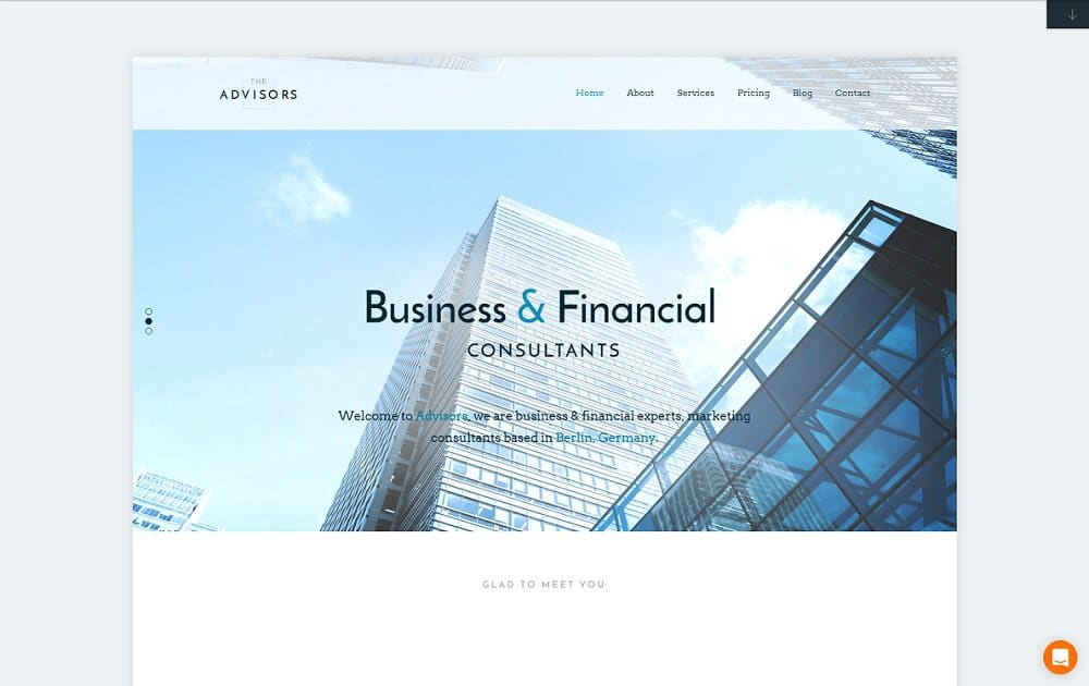 the advisor wordpress business theme
