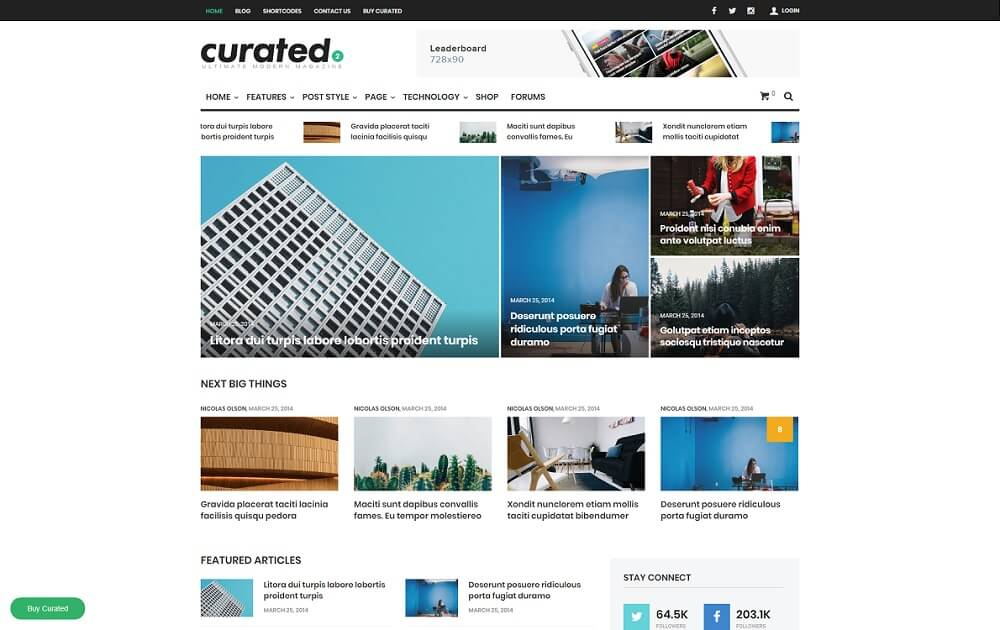 curated content curation theme